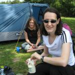 Dossing around the campsite - Friday