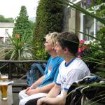 Josh and Richard at the pub